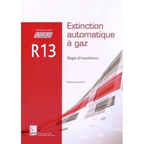 Règle d'installation R13 : Extinction automatique à gaz