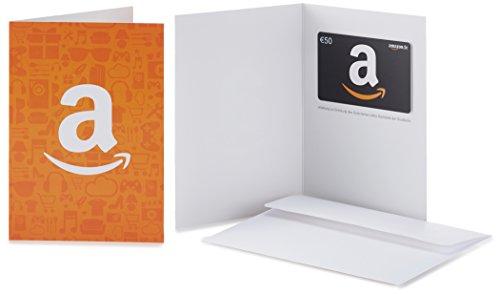 Amazon.de Geschenkkarte in Grußkarte - 50 EUR (Amazon Icons)