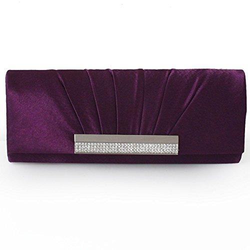 Women 's Nobile Accessori Abito Da Sposa Abito Vintage Clutch Purse Partito Purple