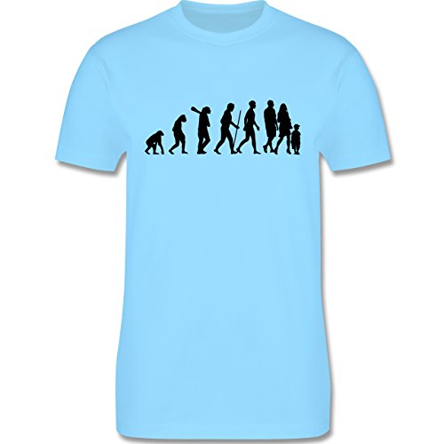 Evolution - Familie Evolution - Herren Premium T-Shirt Hellblau