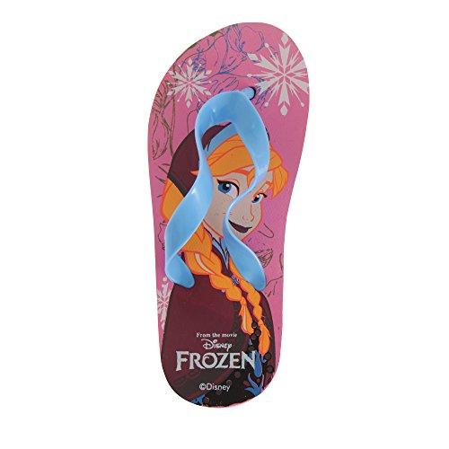 Designs Kinder Sweatshirt (Disney Frozen Kinder Mädchen Flip Flops mit Anna / Elsa Design (27-28 EU) (Pink/Blau))