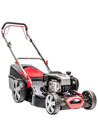 AL-KO Benzin-Rasenmäher Classic 5.15 SP-B Plus, 51 cm Schnittbreite, 2.3 kW Motorleistung, für Rasenflächen bis 1.800 m², Schnitthöhe 7-fach zentral verstellbar, inkl. Mulchkeil, mit Radantrieb, inkl. 65 l Fangkorb mit Füllstandsanzeige