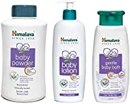 Himalaya Baby Powder, 700g, Herbals Lotion (400ml) and Gentle Bath (400ml) Combo