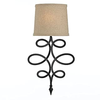 AF Lighting 8605-1W Rhythm Sconce Crafted, Hand Forged Iron by AF Lighting