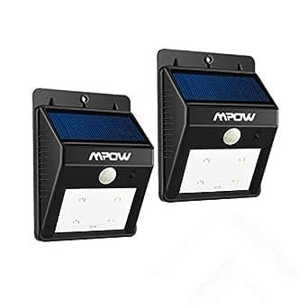 Double luminaire exterieur mpow lampe solaire led sans fil for Luminaire exterieur double