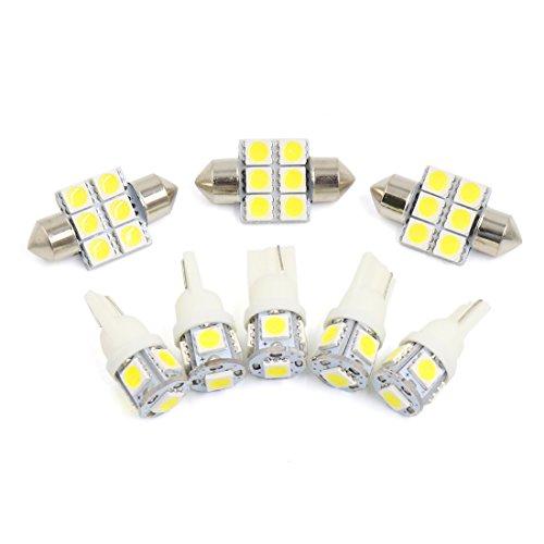 sourcingmap 8x Weiß Auto Innenbeleuchtung Kartenlicht LED Licht Kit