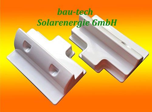 2 x Dachspoiler 18cm weiss Haltespoiler Wohnmobil Dachbefestigung für Solarmodul von bau-tech Solarenergie GmbH