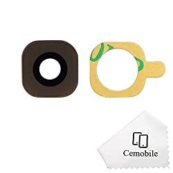 Cemobile Rear Facing Camera Glass Lens Cover Replacement + Adhesive For Samsung Galaxy S6 S6 Edge G920 G925 (Gold)