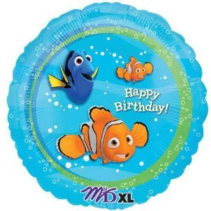 Finding Nemo Happy Birthday Party Mylar Balloon by angagram