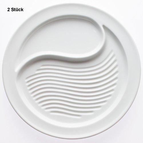 2 Steakteller gerillt 28,5 cm Ø - Serie