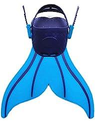 Kingzuo Direct Kinder Flossen Tauchen Schwimmen Niedlich Fisch Schwanz Form Flippers für Kinder Kind