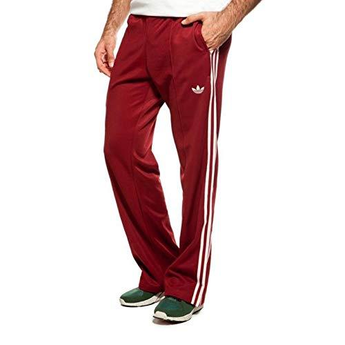 adidas Originals Beckenbauer TP Trainingshose Hose Sporthose WEINROT Bordeaux, Größe:M, Farbe:Weinrot -