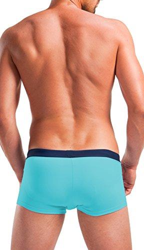 Boxer de bain bandes latérales Turquoise - Turquoise