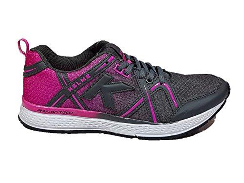 KELME - Zapatillas de Running Nayala Kelme Mujer Antracita Y Fuxia 36