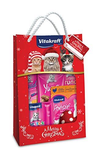 Vitakraft Christmas Bag 2019, Confezione Speciale con Mix di Snack e sorprese (Gatto)