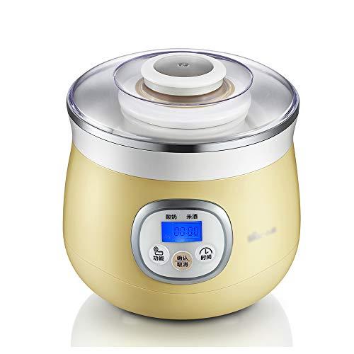 Yogurt machine Joghurtbereiter,Joghurt-Maker,1L Versiegelte Keramikfolie, Gärung Bei Konstanter Temperatur, Joghurt- / Reiswein Mit Zwei Funktionen, Intelligentes Timing, Übersichtliche Anzeige.