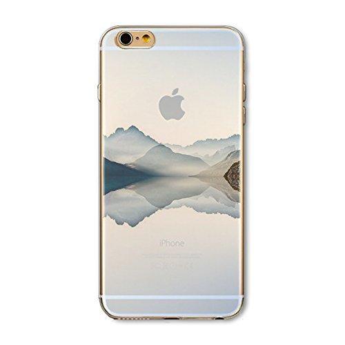 Coque iPhone 7 Housse étui-Case Transparent Liquid Crystal en TPU Silicone Clair,Protection Ultra Mince Premium,Coque Prime pour iPhone 7-Paysage-style 10 8