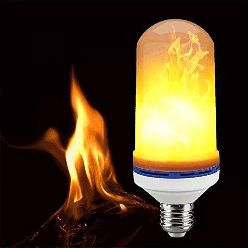 HI-QUAL LED-Flammeneffekt-Glühlampen, E27 Standard-Basis-LED flackernde Flammen-Birnen, 4 Modi mit gedrehtem Effekt, dekorative helle Atmosphäre, die Weinlese-lodernde Lampe für Feiertag beleuchtet