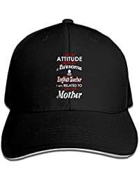 LUXNG - Cappellino da Uomo con Visiera Flessibile e Scritta I Get Attitude  Inglese 194f316dec97