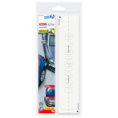 tesa Autoschutzfolie für Kotflügel und Stoßstange, 24cm x 5cm, 2 Stück