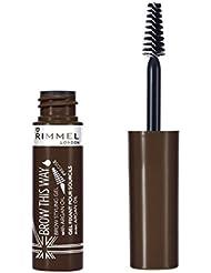 Rimmel Brow This Way Mascara à Sourcils à l'Huile d'Argan Marron Foncé 5 ml
