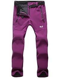 Demarkt Impermeable al Viento de Pantalónes de trekking para Mujer Multicolor (Morado, XXL)