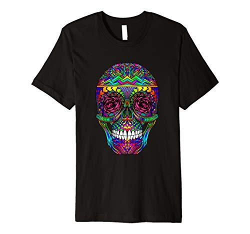 DAY OF THE DEAD Rainbow Skull Dia de los Muertos T-Shirt