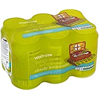 Faible En Calories Limonade Nuageux Waitrose 6 X 330Ml (Paquet de 6)