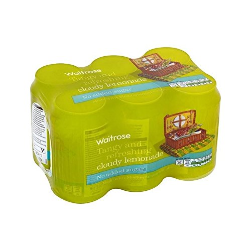 Faible En Calories Limonade Nuageux Waitrose 6 X 330Ml (Paquet de 4)