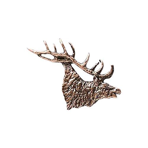 Elk rame Head Bugling piccola, Pin-Spilla da bavero, (Piccolo Elk)
