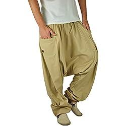 pantalones harem virblatt XXL de color único con entrepierna profunda talla única Unisex L-XXL Moda de maternidad con cremallera en los bolsillos - Unüberlegt extra groß