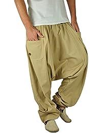 virblatt bonzaai sarouel femme mode hippie pantalon de yoga - unüberlegt extra large beige