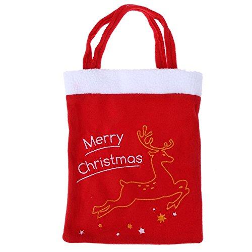 Amazingdeal365 Weihnachtstasche Kauftasche mit festlicher Anblick großer Geschenke Weihnachtsstrumpf zum Befüllen für Kinder alle Freunde Verwandte (Damen Stiefel Günstige Super)