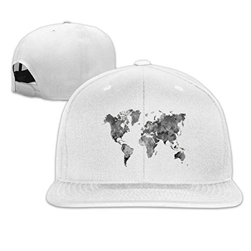 Osmykqe Gray World Map Leichte atmungsaktive Outdoor-Laufmütze Athletic Baseball Fitted Caps für Herren - Boston Baseball-cap Kleinkind