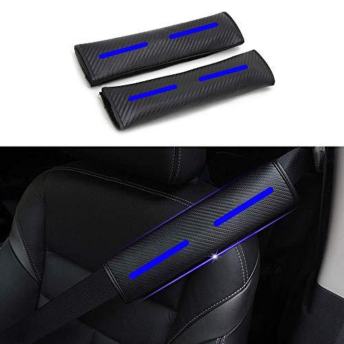 Maiqiken 2 x Auto Gurtschutz Sicherheitsgurt Schulterpolster Schulterkissen Blau Reflektierende Sicherheit Warnung Autositze Gurtpolster Passt für 350Z