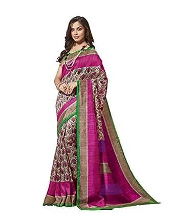Ethnicjunction Cotton Silk Saree (Ej1131-3030_Multicolor)