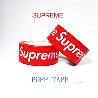Supreme Logo Stickers Tape Packaging Tape Seal Tape Decorative Adhesive Tape(100m/328ft/109yd)