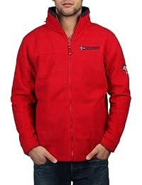 Geographical Norway Anapurna Outdoor–Chaqueta forro polar Forro polar chaqueta universal Supper Blanco Rojo