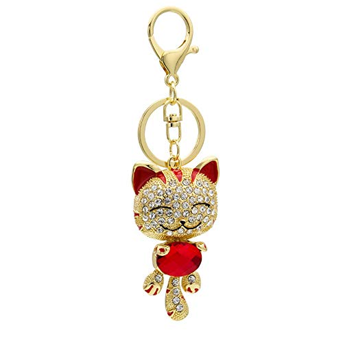 Kitty Mode-taschen (AZXCyJ Keychain Mode Strass Elegante Kitty Handtasche Hängen Metall Material Diamant Tasche Anhänger)