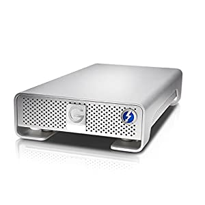 G-Technology G-DRIVE Thunderbolt USB 3.0 10000 GB External Hard Drive - Silver