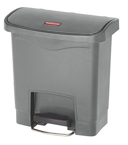 Rubbermaid Slim Jim 1883599 15 Litre Front Step Step-On Resin Wastebasket - Grey (Rubbermaid Slim Jim Mülleimer)