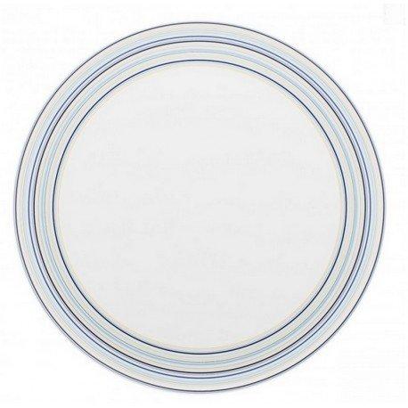 DEGRENNE 227598 Plat à Tarte, Porcelaine, Bleu, 33 x 33 x 2 cm