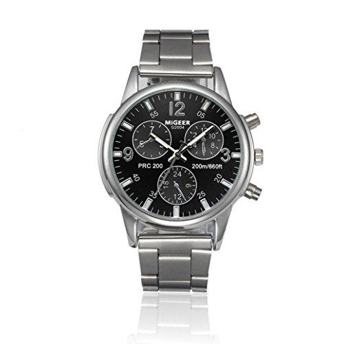 Coolster Herren Edelstahl Business Armbanduhr Armband