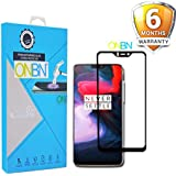 ONBN® Oneplus 6 Tempered Glass 6D (Next Version of 5D) Full Edge to Edge Full Glue Original 9H Hardness Anti Scratch Full HD Scratch Guard