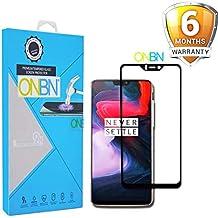 ONBN® Oneplus 6 Tempered Glass 6D (Next Version of 5D) Full Edge to Edge Full Glue Original 9H Hardness Anti Scratch Full HD Scratch Guard