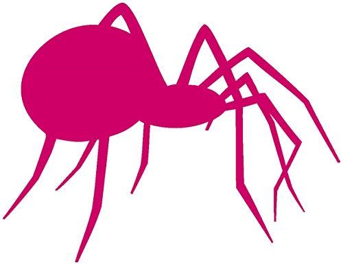 Samunshi® Spinnen Aufkleber seitlich Spinnenaufkleber Sticker in 7 Größen und 25 Farben (60x46cm pink)
