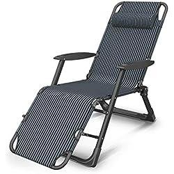 KGHEBN Set di Prodotti Doppio Sedile Regolabile per Sedia a gravità Zero reclinabile per terrazze, Piscina con portabicchieri - Blu