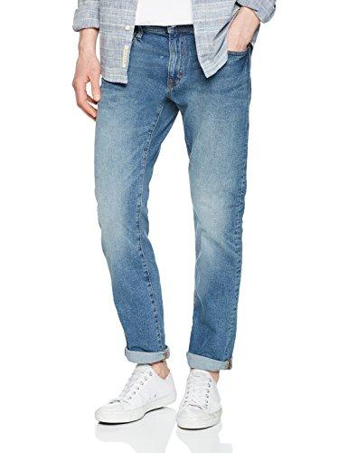 Blue Herren 32x32 Jeans (edc by ESPRIT Herren Straight Jeans 028CC2B007, Blau (Blue Medium Wash 902), 38/32)