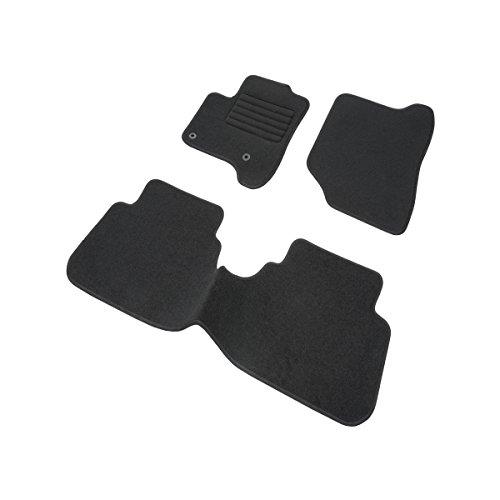 DBS 1763724 Tapis Auto - Sur Mesure - Tapis de sol pour Voiture - 3 Pièces - Antidérapant - Moquette noir 900g/m² - Finition Velours - Gamme Star