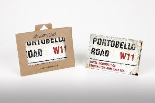 London Portobello Road Sign Photo Magnete Per Frigorifero, 6x 9cm